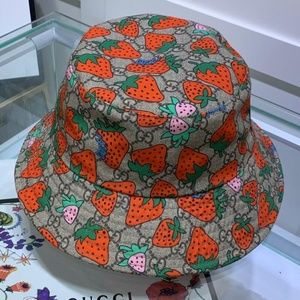 Gucci Strawberry Bucket Hat